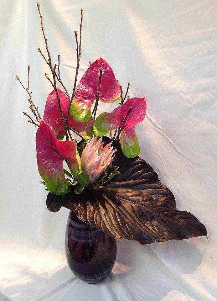 Bouquet hall d'accueil