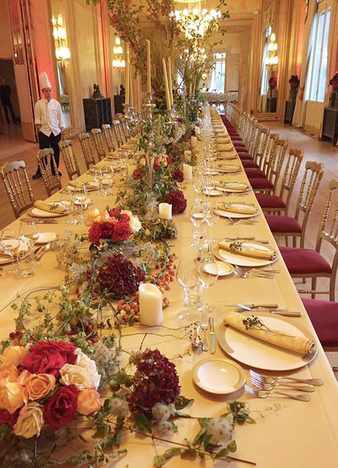 Décorations table de mariage.