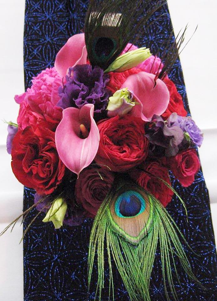 Bouquet de mariage arts déco